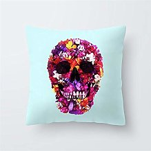 Creative Pattern Printed Cushion Cover Colorful