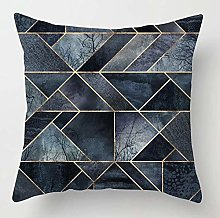 Creative Patterned Soft Cushion Covers (Blue/Grey