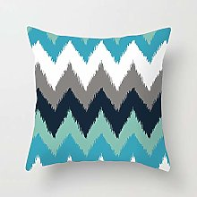 Creative Patterned Soft Cushion Covers (Blue
