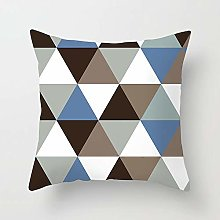 Creative Patterned Soft Cushion Covers (Brown/Blue