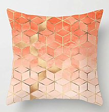 Creative Patterned Soft Cushion Covers (Coral