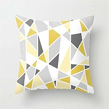 Creative Patterned Soft Cushion Covers (Yellow