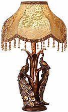 Creative Peacock Table lamp, European Style, Retro