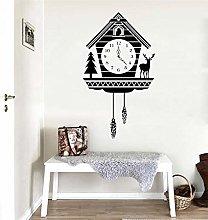 Creative Rustic Cuckoo Clock Wall Sticker Animal