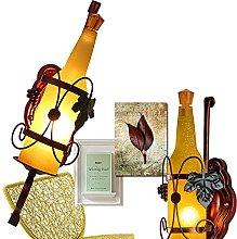 Creative sconces Beer Bottle Wall lamp bar Bedroom