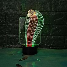 Creative Table lamp Eyes Snake King 7 Colors Touch