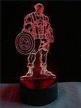 Creative USB Acrylic LED Night Light 3D Table Lamp