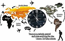 Creative World Map Wall Clock Nordic Modern