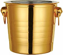 Creativity Ice Bucket Gold Stainless Steel High