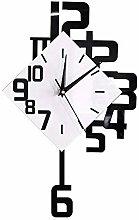 Creativity Large Numbers Pendulum Clock Black and