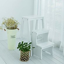 Creativity Step Stool Solid Wood Collapsible Stool