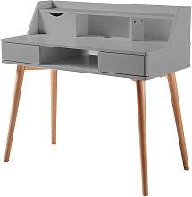Creativo Wooden Writing Desk with Storage, Light