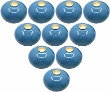 Creatwls 10 pcs Candy Color Ceramic Drawer Knobs