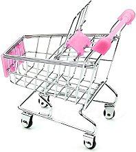 Creatwls 1pcs Pink Mini Shopping Cart Simulation