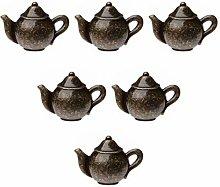 Creatwls 6 pcs Antique Teapot Door Knobs Drawer