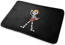 Creepy-Skeleton-Character-In-Playing Bath Mat