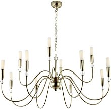 Crescent 12-Light LED Sputnik Chandelier