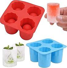 Crethink 2pcs Ice Cube Trays Silicone 4 Giant Ice