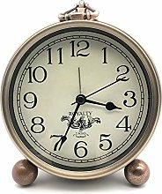 CREULT Silent Alarm Clocks Bedside Non Ticking