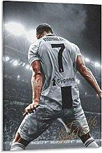 Cristiano Ronaldo Canvas Art Poster and Wall Art