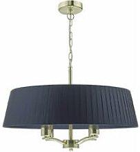 Cristin satin brass and satin blue pendant light 4
