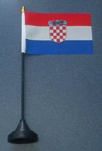 Croatia Country Desk Table Top Flag