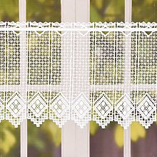 Crochet Curtain Bistro Curtain Lace with Diamond