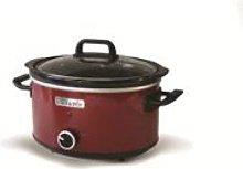Crock-Pot 3.5L Red Hinged Lid Slow Cooker