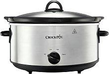 Crock-Pot 5.6L Slow Cooker - Stainless Steel