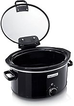 Crock-Pot 5.7L Hinged Lid Slow Cooker - Black