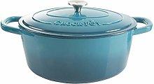 Crock-Pot Artisan Oval Enameled Cast Iron Dutch