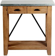 Crockett Console Table Blue Elephant Size: 73.66 H