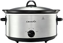 Crockpot 5.6L Slow Cooker - Stainless Steel