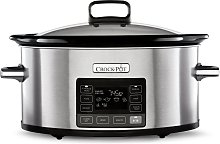 Crockpot 5.6L Time Select Slow Cooker - Stainless