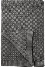 Croft Collection Cotton Chain Knit Throw, Storm