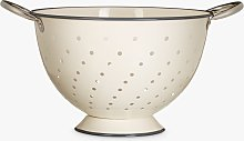 Croft Collection Footed Colander with Grey Rim