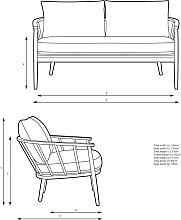 Croft Collection Frome Loveseat