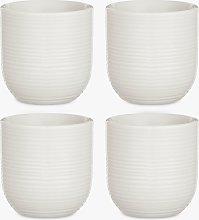 Croft Collection Luna Fine China Egg Cup, Set of
