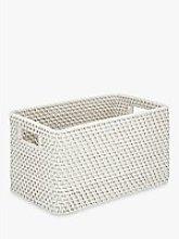 Croft Collection Rattan Basket, White