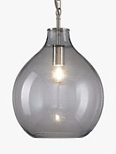 Croft Collection Selsey Glass Ceiling Light, Blue
