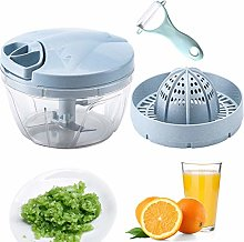 CROING Easy Pull Food Manual Chopper with Citrus
