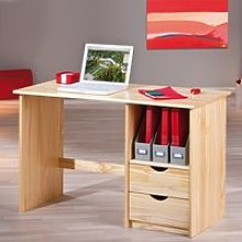 Croma Wooden Computer Desk In Natural With 2