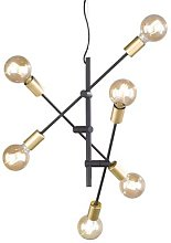 Cross pendant light with a minimalist design