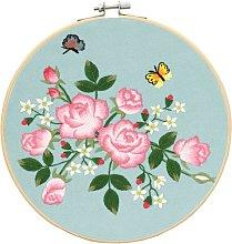 Cross Stitch DIY Rose Needlework Embroidery Tool