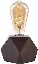 CROWN LED Wooden Table Lamp - Battery Operated,
