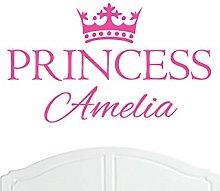 Crown Princess Amelia Large Wall Sticker/Vinyl