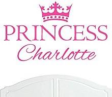 Crown Princess Charlotte Large Wall Sticker /