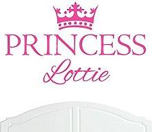 Crown Princess Lottie Large Wall Sticker/Vinyl