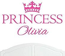 Crown Princess Olivia Large Wall Sticker/Vinyl