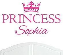 Crown Princess Sophia Large Wall Sticker/Vinyl